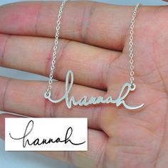 Personalized Signature Name Necklace Sterling by weimeiOrnaments
