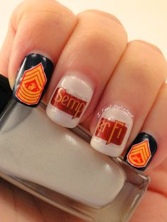 Usmc Nails Marine Cute Nail Art Pretty