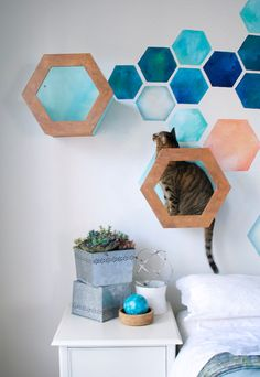 Tisket Tasket Kitty Shelf & Baskets by Revel Zoo. Make a jungle gym for your cats!
