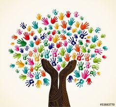Colorful  solidarity design tree
