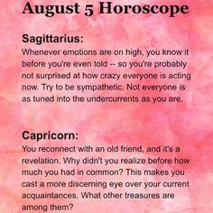 5 August Sagittarius and Capricorn Horoscope. Astrology &  Numerology. Daily Zodiac, Astrology Numerology, Sagittarius And Capricorn, Knowing You, Success