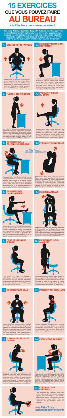 15 Exercices Faciles à Faire au Bureau (Ni Vu, Ni Connu).