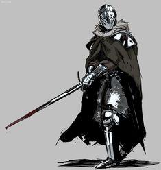 Armors 305189312250122883 - Knight warrior fighter armor cloak sword Source by kirstenisabella Fantasy Concept Art, Fantasy Armor, Fantasy Character Design, Character Design Inspiration, Character Concept, Character Art, Fantasy Sword, Armadura Medieval, Medieval Armor