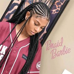 Box Braids Hairstyles, Lemonade Braids Hairstyles, Braids Hairstyles Pictures, Frontal Hairstyles, Braided Hairstyles For Black Women, Summer Hairstyles For Medium Hair, Easy Hairstyle, Dreads, Volleyball Hairstyles