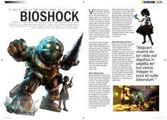Video Game Magazines, Bioshock, Layout Design, Anime, Movie Posters, Gaming, Google, Art, Art Background