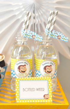 Curious George Boy Birthday Party Ideas — loving these party printables! might have to think about doing this theme for his 2nd birthday, he oves gerorge.