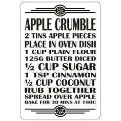 Recipe Magnet - Apple Crumble