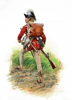 Regiment of Foot Grenadier, 1777 Saratoga Campaign by Don Troiani American Revolutionary War, American War, Early American, American History, British History, British Army Uniform, British Uniforms, British Soldier, Independence War