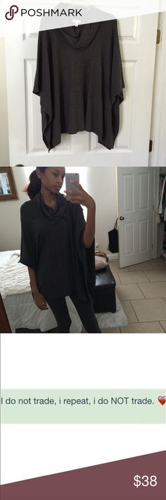 Dark gray poncho Worn only once, its still like brand new. Purchased from Dillards Sweaters Shrugs & Ponchos