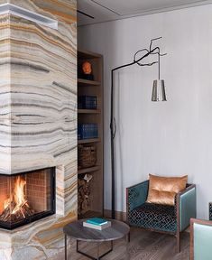A serene afternoon at the fireplace Private interior by Featured collection: Flintstone floor lamp, by William Brand. Solid Wood Furniture, Custom Furniture, Furniture Design, Industrial Style Coffee Table, Contemporary Chairs, Modern Floor Lamps, Furniture Making, Chair Design, Design Projects