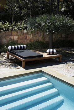 lounging or chillin Robert Plumb transitions from garden to furniture Outdoor Daybed, Outdoor Pool, Outdoor Spaces, Outdoor Living, Outdoor Decor, Timber Furniture, Pool Furniture, Outdoor Furniture Sets, Outdoor Furniture Australia