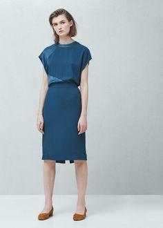 Cut-out back dress -  Women | MANGO
