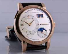 European Watch Company: A. Lange and Sohne Lange 1 Moon 18K Rose Gold 38.5MM