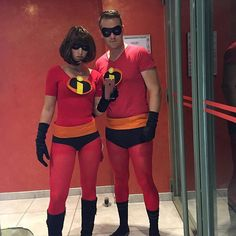 Pin for Later: Every DIY Pixar Costume You Could Possibly Think of in 1 Place The Incredibles Costume: Elastigirl and Mr. Incredible