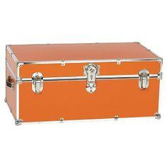 Stanley Case Works Medium Orange Steel Storage Trunk