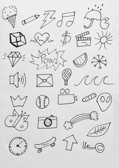 Desenhos fáceis de fazer para decorar cadernos, bullet journal, trabalhos escolares e muito mais!
