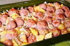 Masové kuličky se zelím a bramborami Potato Salad, Potatoes, Ethnic Recipes, Potato