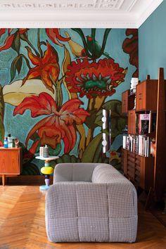 Papel pintado de flores FIORE MIO by Wall