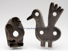 PENNSYLVANIA SHEET-IRON FIGURAL COOKIE CUTTERS, circa 1840-1880