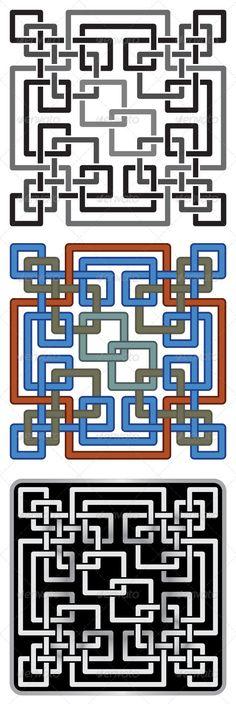Celtic-Style Mosaic Patterns