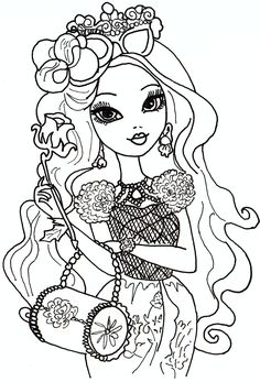 to print coloring ever after high 2 click on