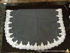 Instructions on how to make your own lace-edged veil.