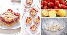 Cuadraditos de fresas y limón