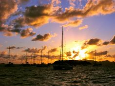 Sunset in the Tobago Cays, Saint Vincent & the Grenadines