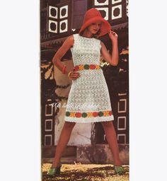 Ladies dress crochet pattern. Instant PDF download! by VBlittlecraftshop on Etsy