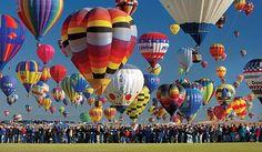 Alberquerque balloon festival in October