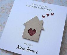 handmade housewarming cards   Modern Handmade Personalised New Home Housewarming Moving House Card