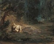 """New artwork for sale! - """" The Death Of Ophelia 1838 by Delacroix Eugene """" - http://ift.tt/2ng3Tpm"""