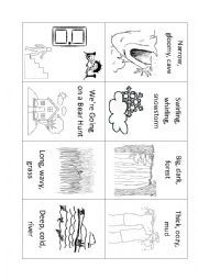 English Worksheet We Re Going On A Bear Hunt Mini Book Mini