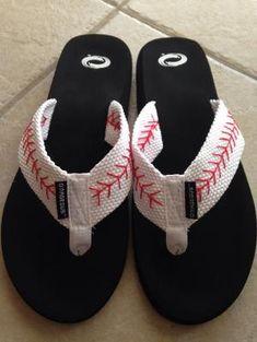 Diy baseball flip flops by melisa