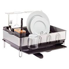 Best Simplehuman® Steel Frame Grey Dish Rack I Crate And Barrel 400 x 300