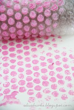 bubble wrap polka dots-never thought of this before!