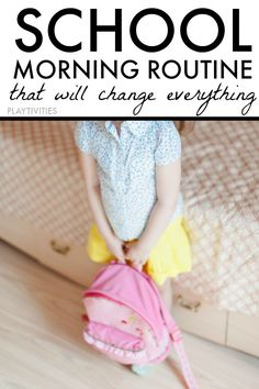 Morning routines for toddlers