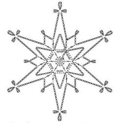 15 crochet snowflakes patterns- free patterns – Turcoaz cu Vanilie - Her Crochet Crochet Snowflake Pattern, Crochet Stars, Crochet Motifs, Crochet Snowflakes, Crochet Diagram, Thread Crochet, Crochet Doilies, Crochet Flowers, Crochet Lace