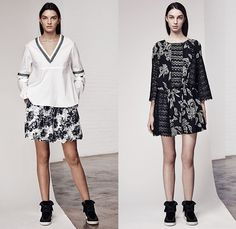 Thakoon Addition 2015 Pre Fall Autumn Womens Lookbook Presentation - Sporty Knit Fringes Turtleneck Shirtdress Lace Pinstripe Windowpane Check Wool Slim High Tops Sleeveless Waistcoat Shawl Cropped Pants Trousers Flowers Florals Flora Fauna Leaves Foliage Print Graphic Pattern Sweater Jumper Embroidery Shorts Plaid Outerwear Jacket Slouchy Tie Up Drawstring Stripes Funnelneck Skirt Frock Miniskirt Maxi Dress