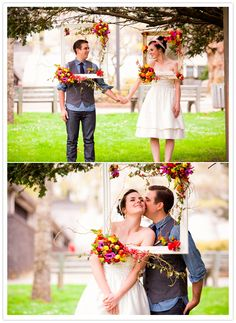 love the hanging frames and the flowers! (by the flower factory, natalie bjordal, and the other angle)