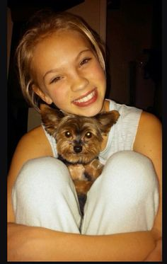 Jordyn jones with Jordyn dog