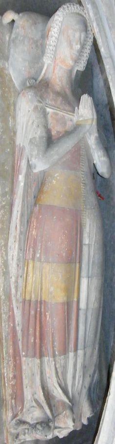 Maud de Grey, 1394, Stanton Harcourt http://www.themcs.org/costume/Female/Stanton%20Harcourt%20-%20St%20Michael%20Maud%20de%20Grey%201394%20116.JPG