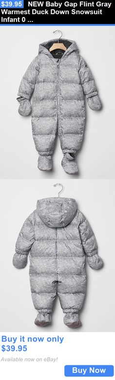 Baby Boys Clothing And Accessories: New Baby Gap Flint Gray Warmest Duck Down Snowsuit Infant 0 3 6 9 12 Months BUY IT NOW ONLY: $39.95