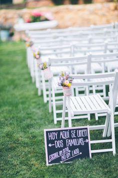 decoracion ceremonia campestre www.bodasdecuento.com