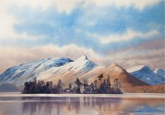Landscape Watercolour paintings by Chris Hull of Snowdonia, North Wales, and the Lake District Learn Watercolor Painting, Watercolor Painting Techniques, Watercolor Landscape Paintings, Watercolor Projects, Gouache Painting, Watercolour Paintings, Landscape Art, Watercolours, Mountain Drawing