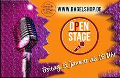 Neues Jahr, neues Glück, neue Open Stage!  Wir hoffen, Ihr seid gut ins neue Jahr gekommen & wünschen Euch das Allerbeste, Erfolg, Glück & Gesundheit :-)  Heute startet wieder unsere #OpenStage Saison mit #LiveMusic im #bagelshop  Um 18 starten wir, also bis gleich :-)  www.bagelshop.de