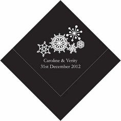 Winter Finery Personalised Napkins - For Jessica, she needs these in purple