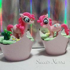 Cupcake My Little Pony   Sweets Nessa   Elo7  - Deliciosos Cupcakes modelados em pasta americana. Os personagens são feitos à mão com o máximo de detalhes possíveis, delicados, e graciosos. 100% comestível. Ideal para decoração de mesa e também como lembrancinha para convidados. Este produto está disponível apenas para São Paulo e Grande São Paulo. R$18,50