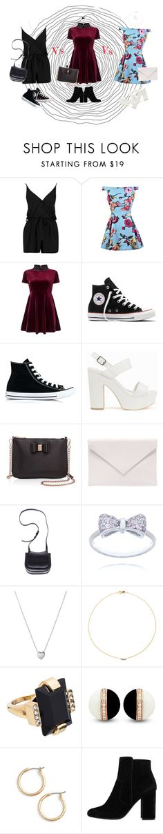"""""""Vote! My friend's style Vs my style Vs my other friend's style"""" by elmoknowswhereyoulive ❤ liked on Polyvore featuring Boohoo, Color Me, Miss Selfridge, Converse, Nly Shoes, Ted Baker, Verali, The Row, Links of London and Sole Society"""