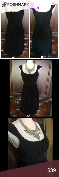 Bisou Bisou Black Tie Back Dress Bisou Bisou Black Tie Back Dress Bisou Bisou Dresses